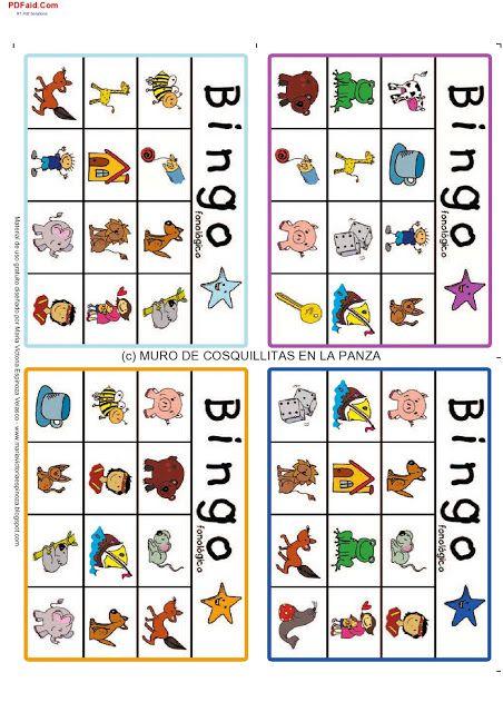 Cosquillitas En La Panza Blogs Conciencia Fonologica Bingo Para Imprimir Cartones De Bingo Conciencia Fonológica