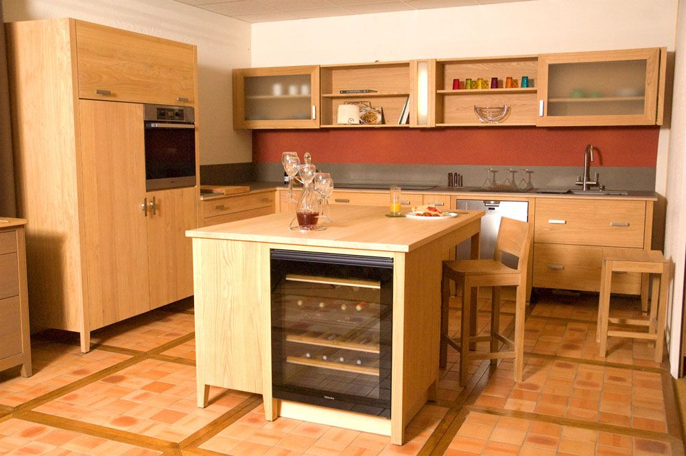 Meuble de cuisine en bois massif huilé collection  \