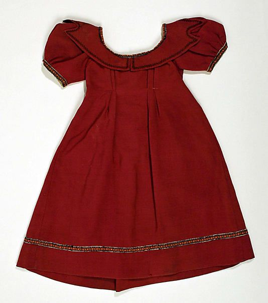 Dress  Date: ca. 1840 Culture: American Medium: wool, silk