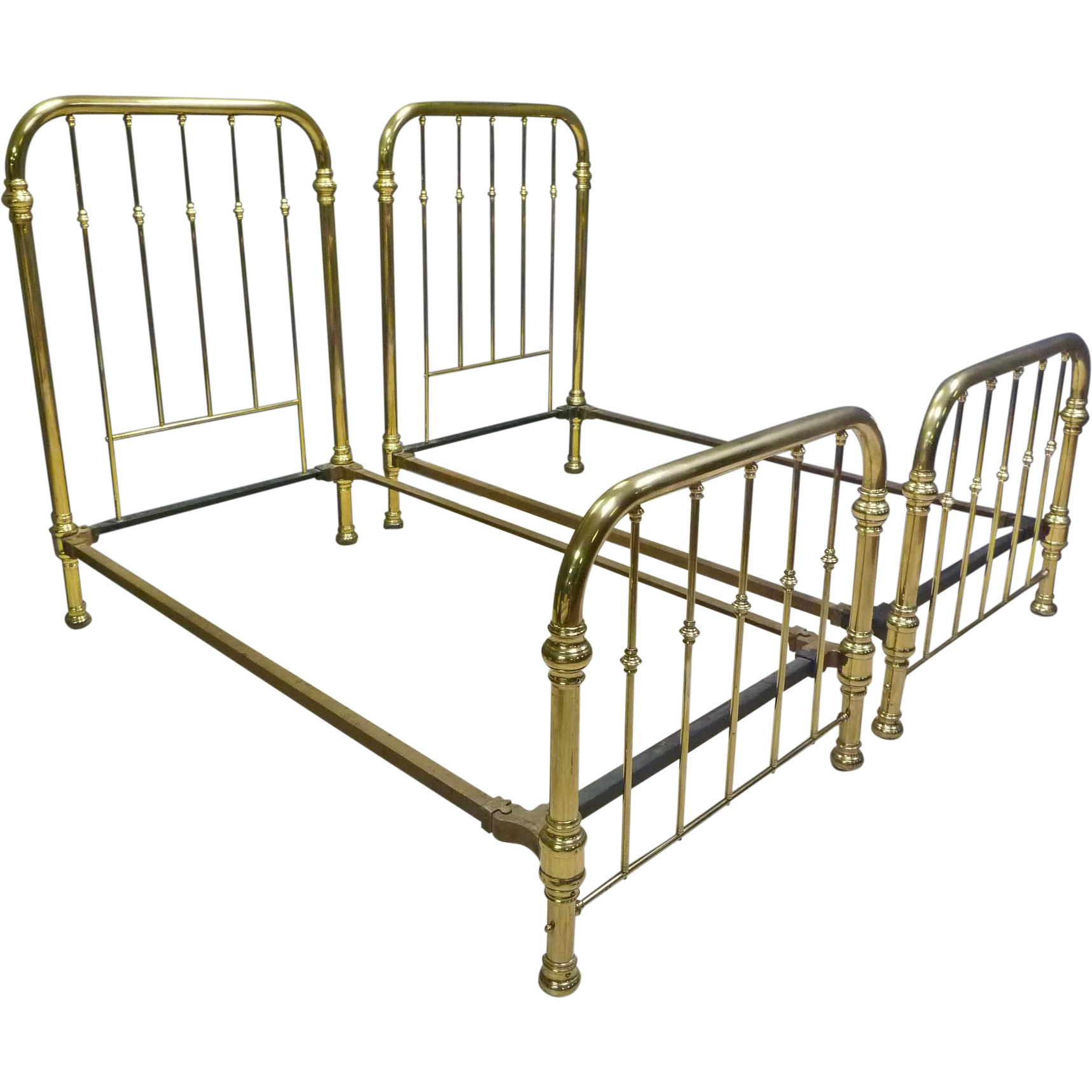 Pair Of Brass Twin Beds Girls Bedroom Bed Brass Bed Bedroom