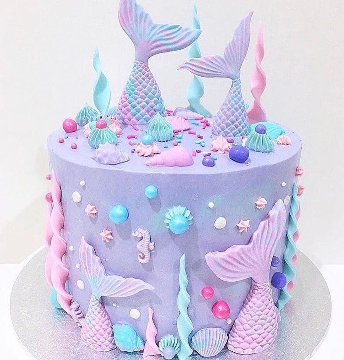 Swell Cute Kids Birthday Cakes Birthday Cake Kids Mermaid Birthday Personalised Birthday Cards Veneteletsinfo