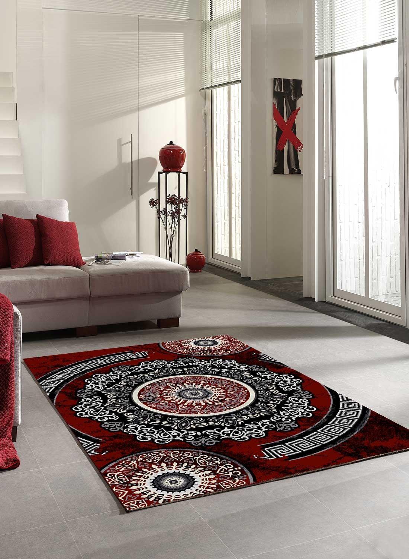 étonnant tapis de salon rouge et gris | Décoration française in 2019 ...