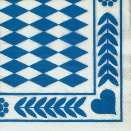 Passend zum #Oktoberfest: Servietten in Bayrisch Blau