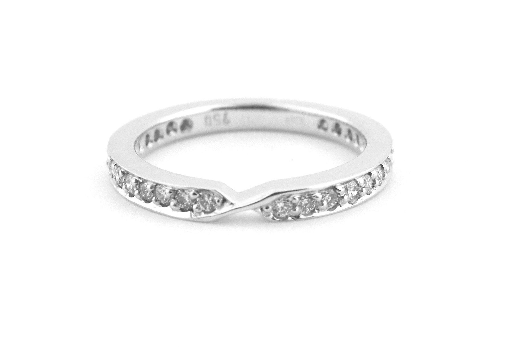 18ct White Gold Handmade Wedding Band With Bead Set Diamonds Www Maxdiamonds Com Au Maxdiamonds Wedding Rings For Women Handmade Wedding Band Wedding Rings