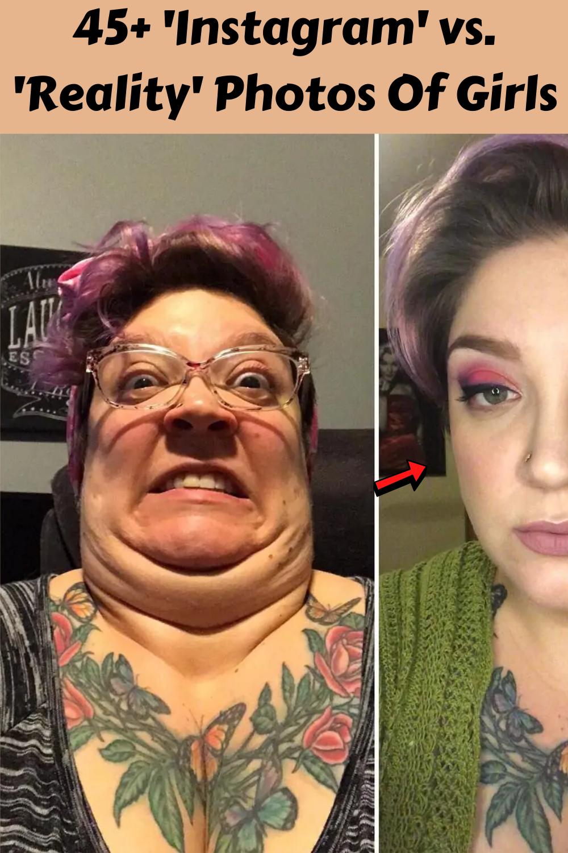45+ 'Instagram' vs. 'Reality' Photos Of Girls