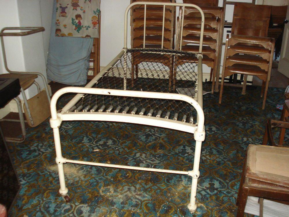 Antique Hospital Ward Bed Cast Iron