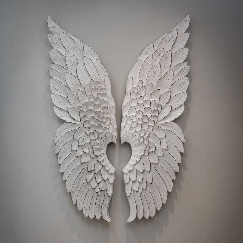 Angel Wings Wall Decor in 2020 | Angel wings wall decor ...