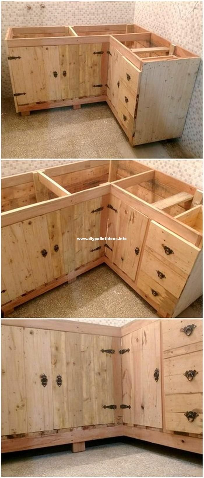 Kitchen Cabinets Made Of Pallets Wood Pallet Diy Pallet Kitchen Cabinets Wood Pallets