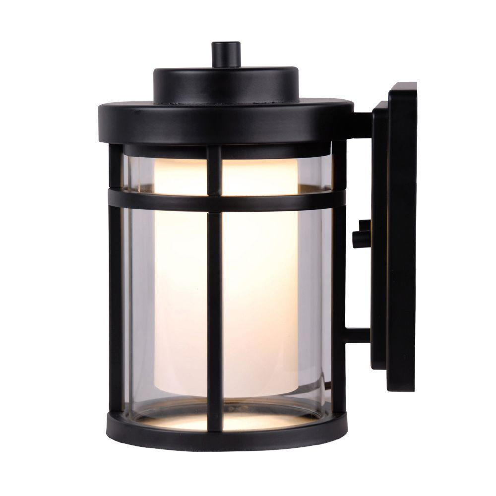 Home Decorators Collection Black Outdoor Led Wall Lantern