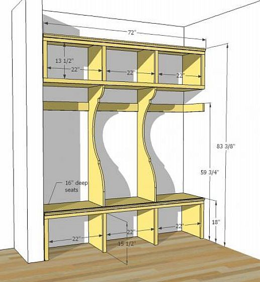 DIY Mudroom Lockers Plans Fixer to fixed Pinterest – Garage Locker Plans