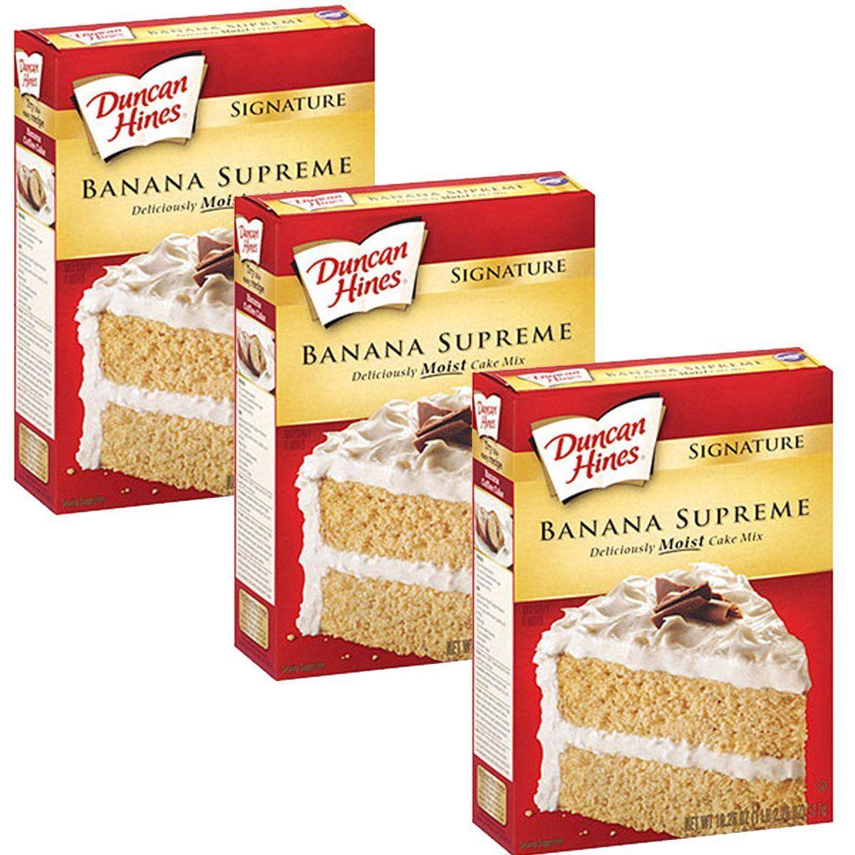 Duncan hines signature cake mix banana supreme 165oz