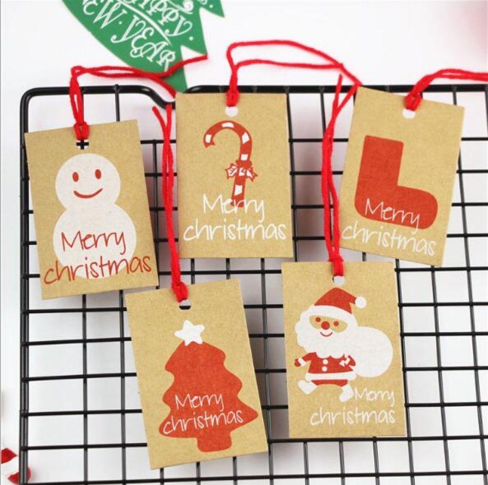 50PCS Paper Hang Tags Christmas Hanging Tags Christmas Tree Decoration Xmas Gift
