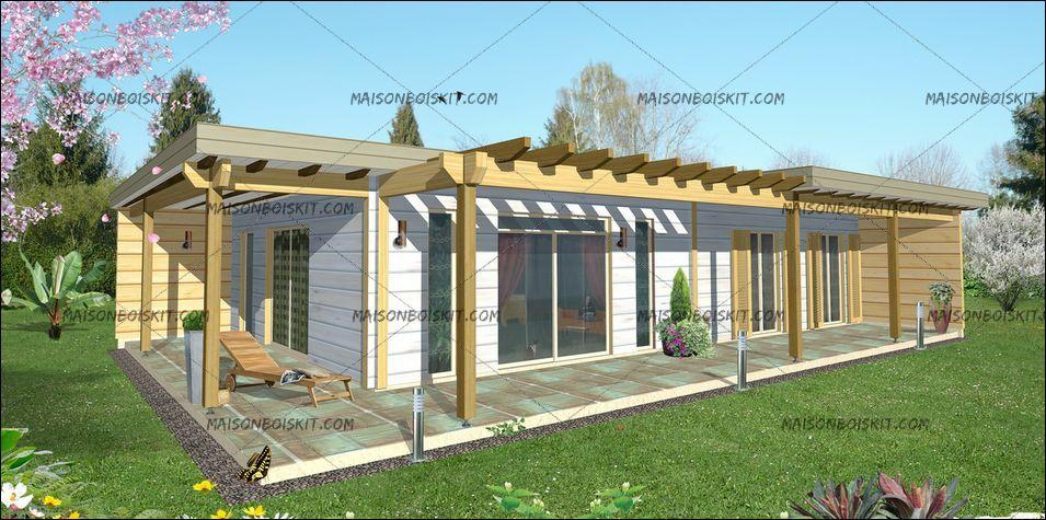 prix maison bois en kit contemporaine 3 chambres maisonboiskit