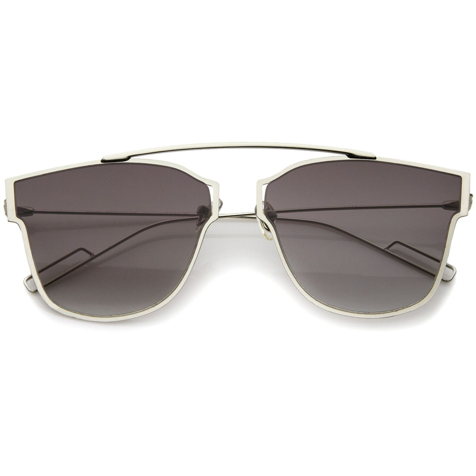 Modern Fashion Ultra Thin Open Metal Minimalist Pantos Aviator Sunglasses 55mm
