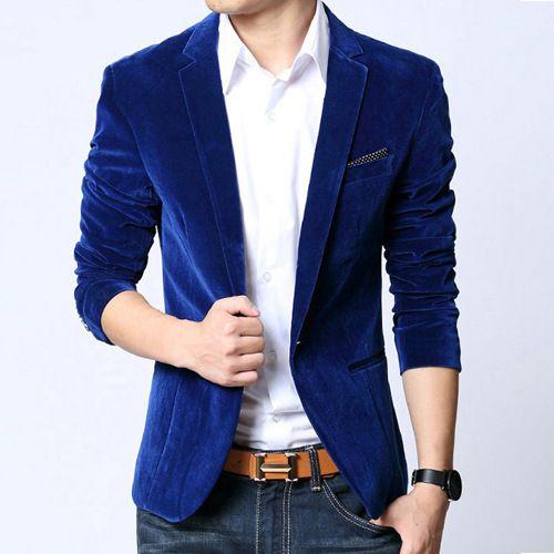 Mens Blazer Slim Fit Suit Velvet Outerwear coat //Item is FREE Shipping Worldwide! //     #fashion #autumn #winter #spring #trending #latest #new