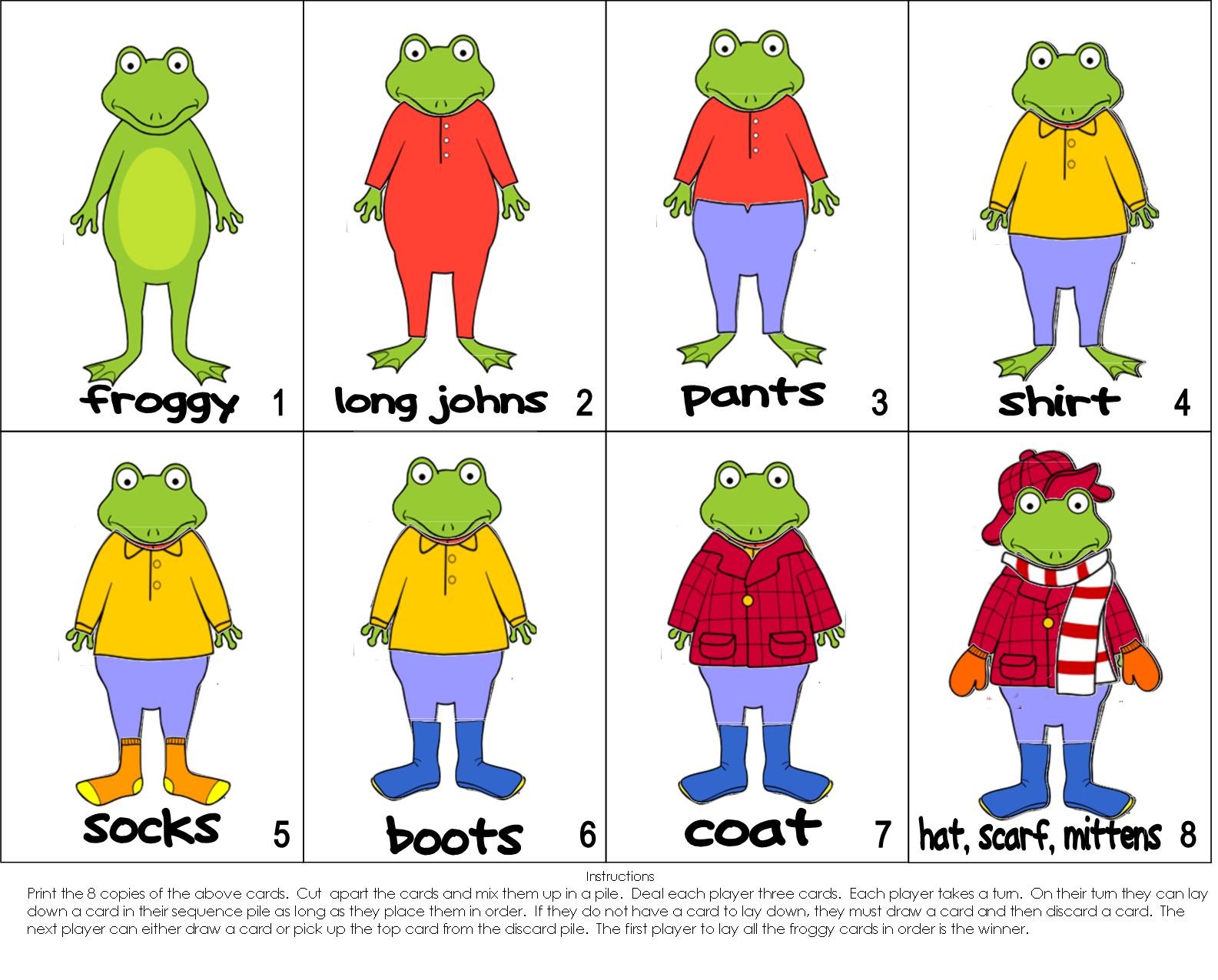 froggy gets dressed template.html