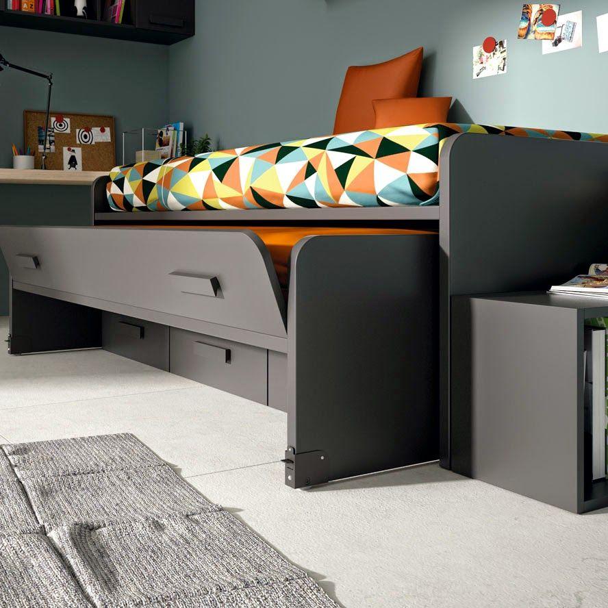 Dormitorio juvenil para dos hermanos camas en l camas for Camas compactas juveniles