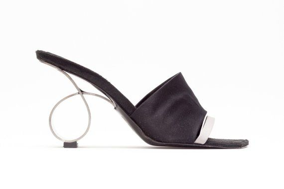 75eb3f7f53666 Robert Clergerie Vintage Wedge Sandals with Metal Circle Heel • Size ...