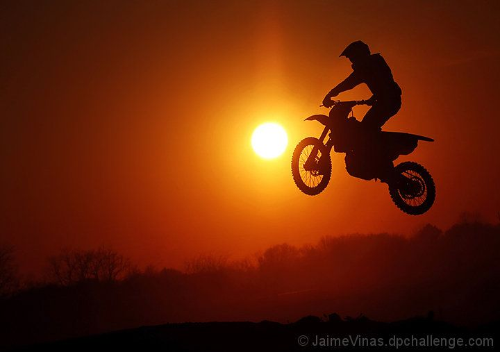Riding Into The Sunset By Jaimevinas Dpchallenge Dirt Bike