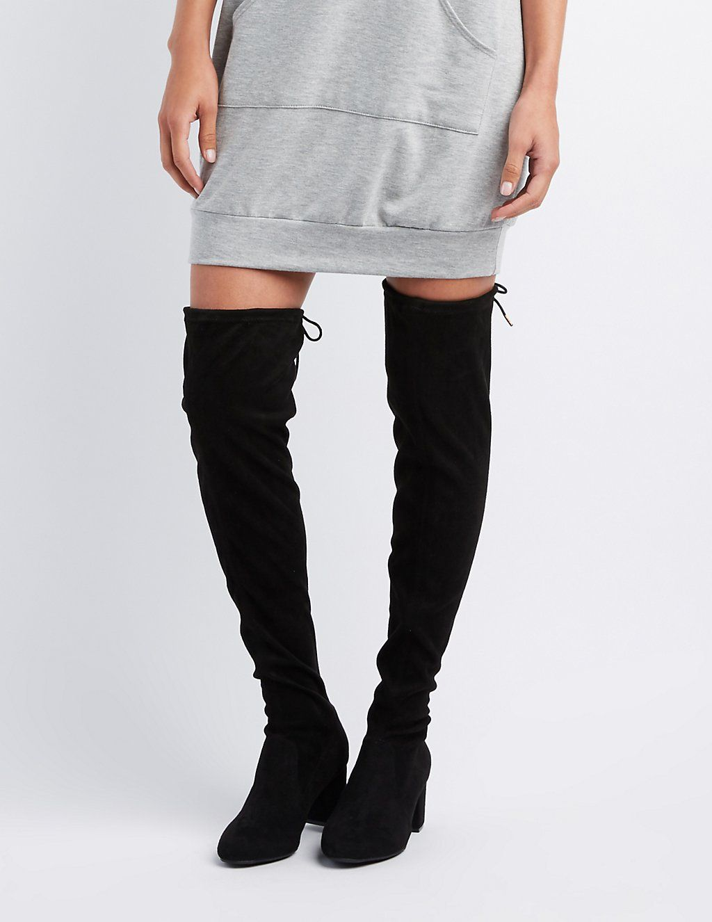 1ec2a7ae9bb Tie-Back Over-The-Knee Boots