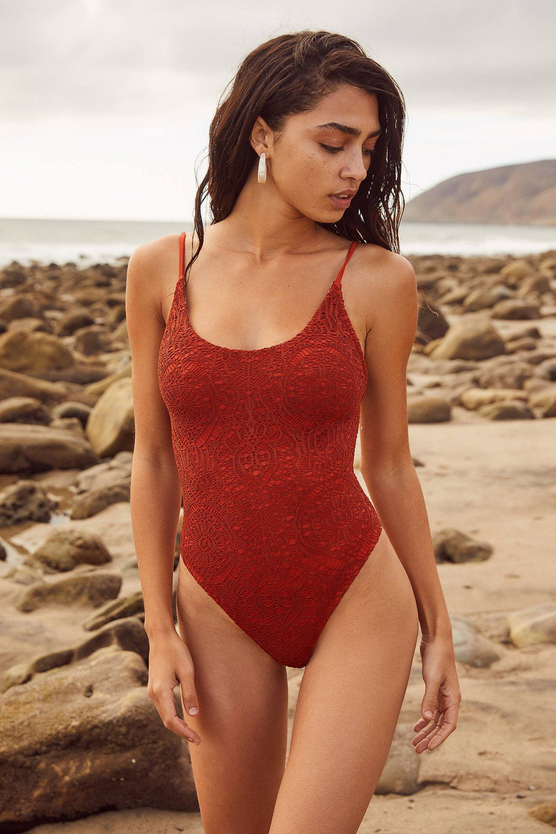c7fdc4af9164b Out From Under Colette Crochet One-Piece Swimsuit in 2019 | Style it ...