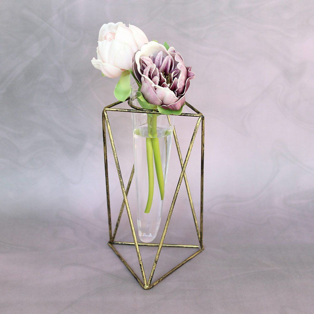 Geometric Metal Flower Vase 8 5 Geometric Vases Vases Decor Geometric Flower