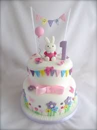 Image Result For 1 St Birthday Cakes Girl With Bunny Cake In 2018