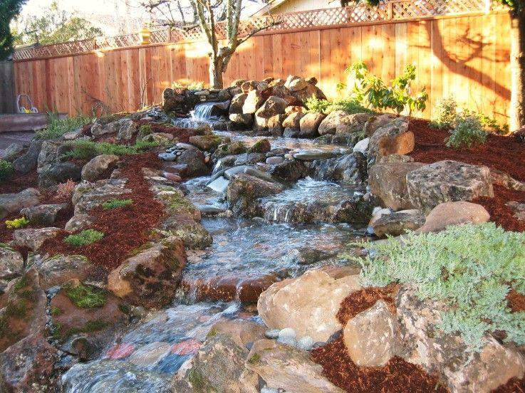 Backyard Pondless Waterfalls Pondless Waterfall Garden Ideas - Backyard pondless waterfalls