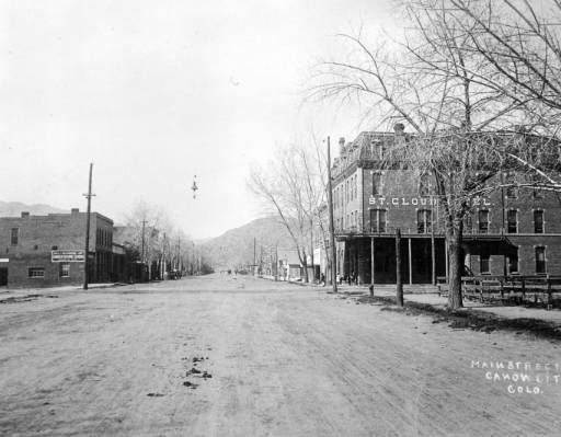 Canon City Colorado 1884 Looking East On Main Street