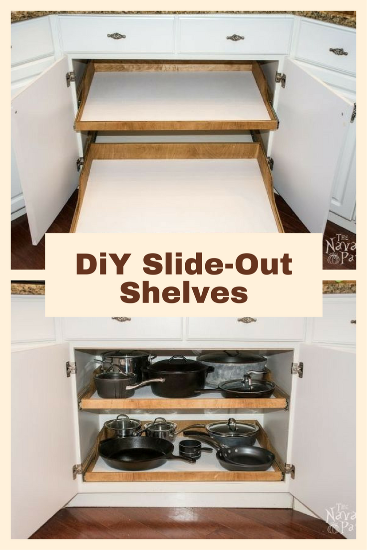 After Seeing What This Husband And Wife Did, You Might Never Organize Your  Kitchen Stuff The Same Way Again! Slide Out ShelvesCabinet SpaceDiy ...