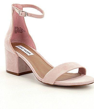 Steve Madden Irenee Ankle Strap Suede Block Heel Dress Sandals | Dillards