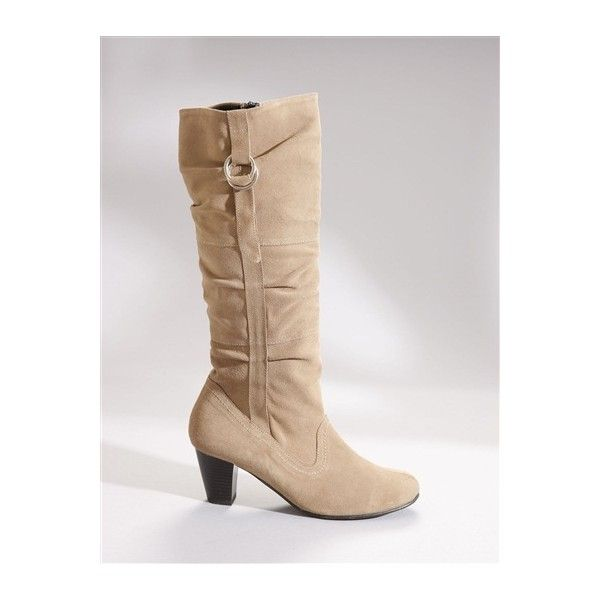 Pediconfort Ladies Suede Leather Knee Boots ❤ liked on Polyvore