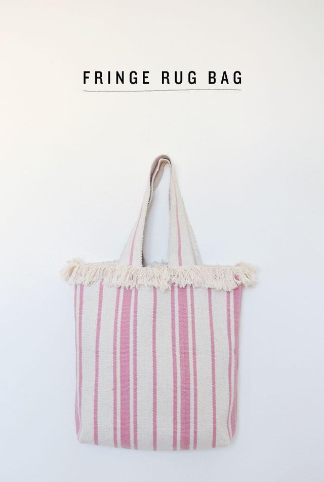 diy: fringe rug bag (CAKIES)