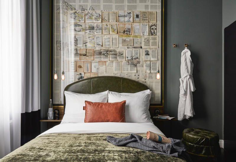 Sir savigny hotel interiors by saar zafir peaceful for Vintage hotel decor