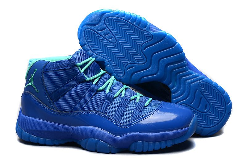 Discount Air Jordan XI 11 Retro 2015 Purple Blue Basketball Shoes
