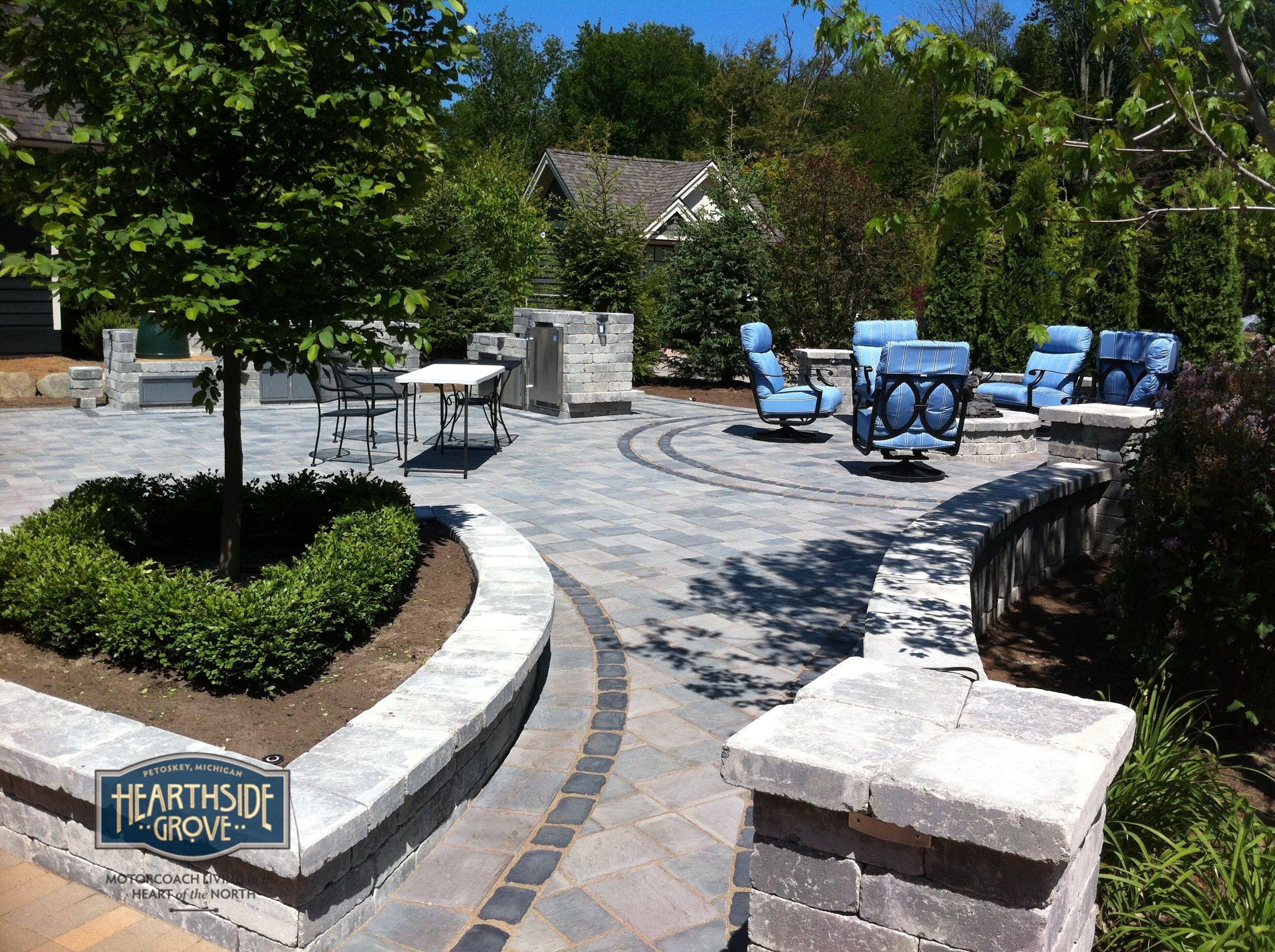 Hearthside Grove Luxury Motorcoach Resort Lot 55   #exterior #brickpavers # Patio