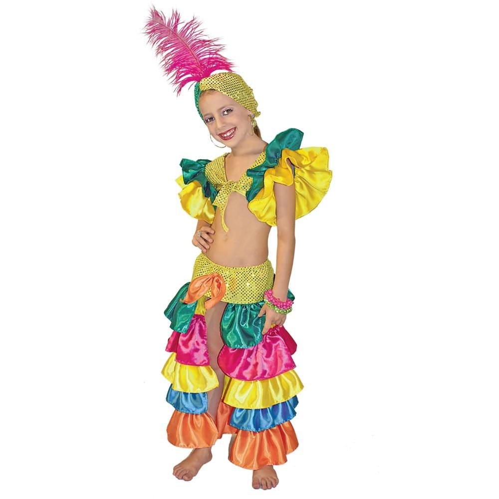 Disfraz de Rumbera Brasilera niña BsF 1600.0 - korda Modas ...