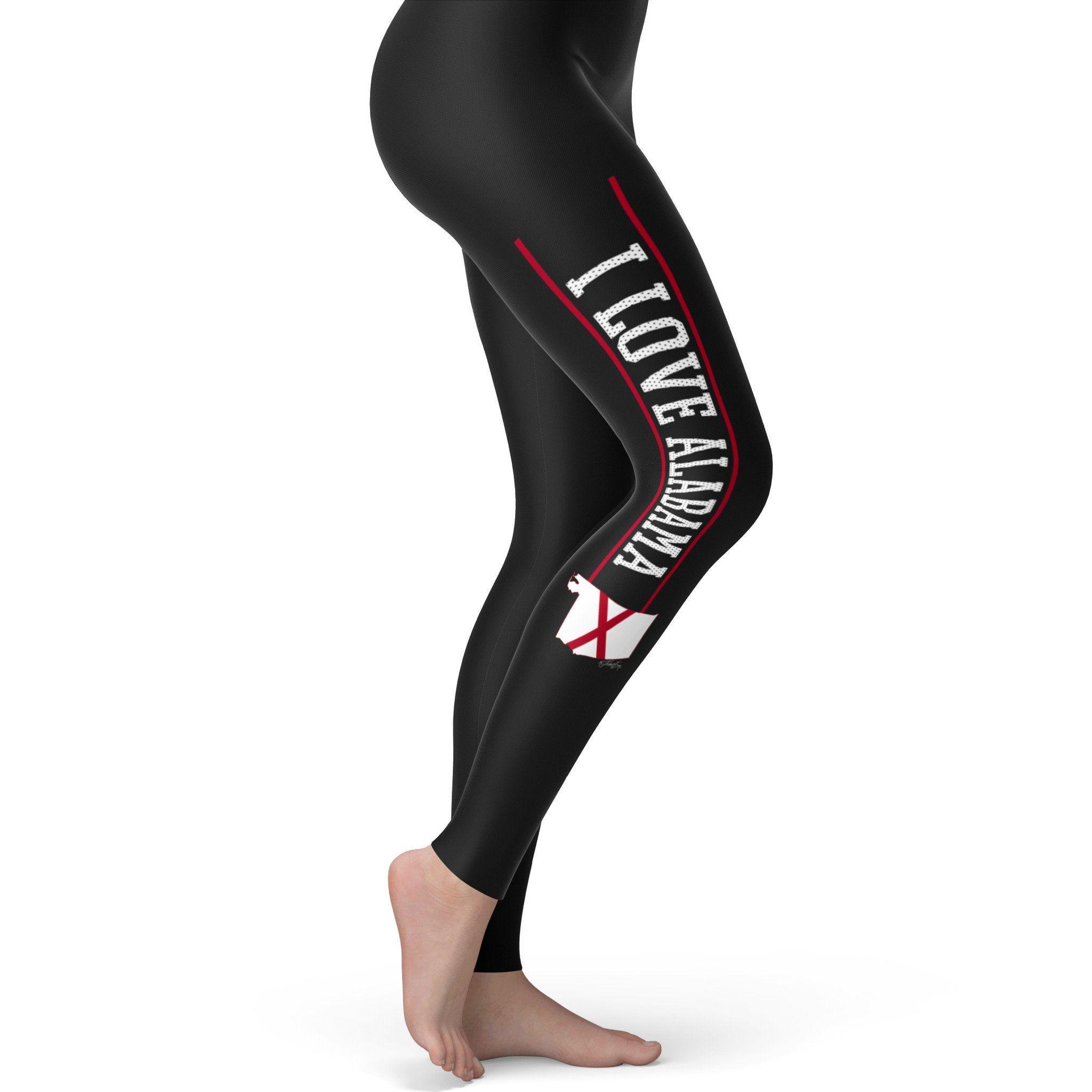 I Love Alabama Strip Women's Leggings
