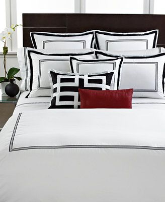 926659f522e11 Hotel Collection Tuxedo Embroidery Bedding Collection | Bordados ...