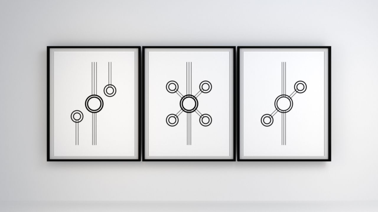 Black lines art print geometry art minimalism art abstract poster
