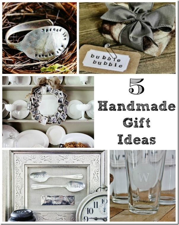 Five Handmade Gift Ideas | Easy handmade gifts, Unique and Gift