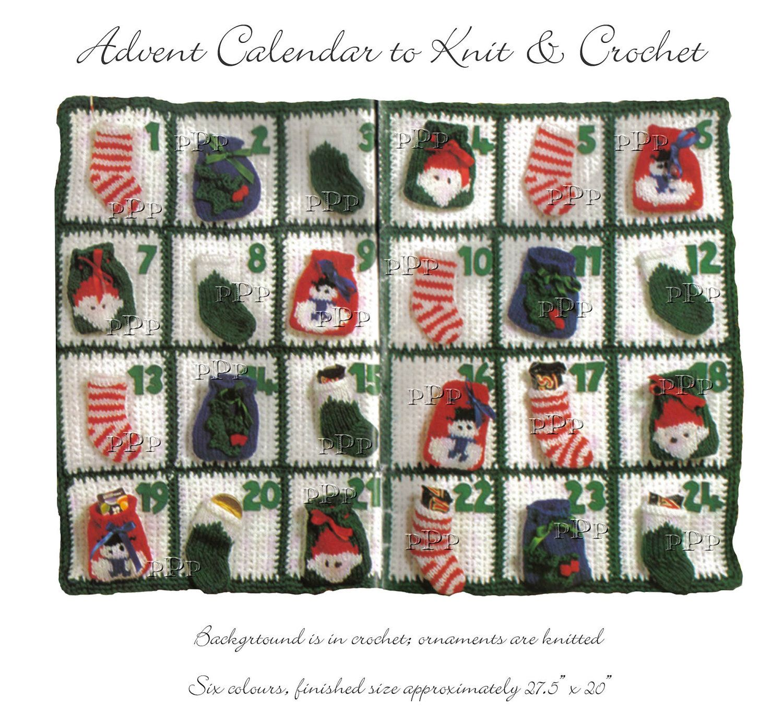 Advent Calendar Handmade Knitting : Advent calendar to knit and crochet instant download