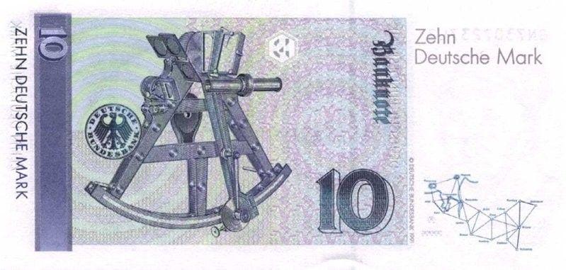 Banknote 10 Mark Deutschland Brd 1989 1999 Issue Wor P 38d Notas