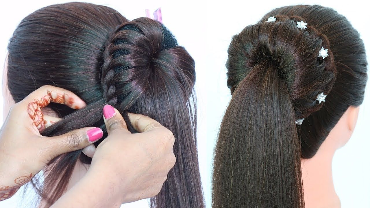 easy party wear wedding hairstyle with trick | hairstyle for