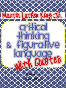 An entire pack of Martin Luther King, Jr. quotes complete with worksheets and quiz forms.