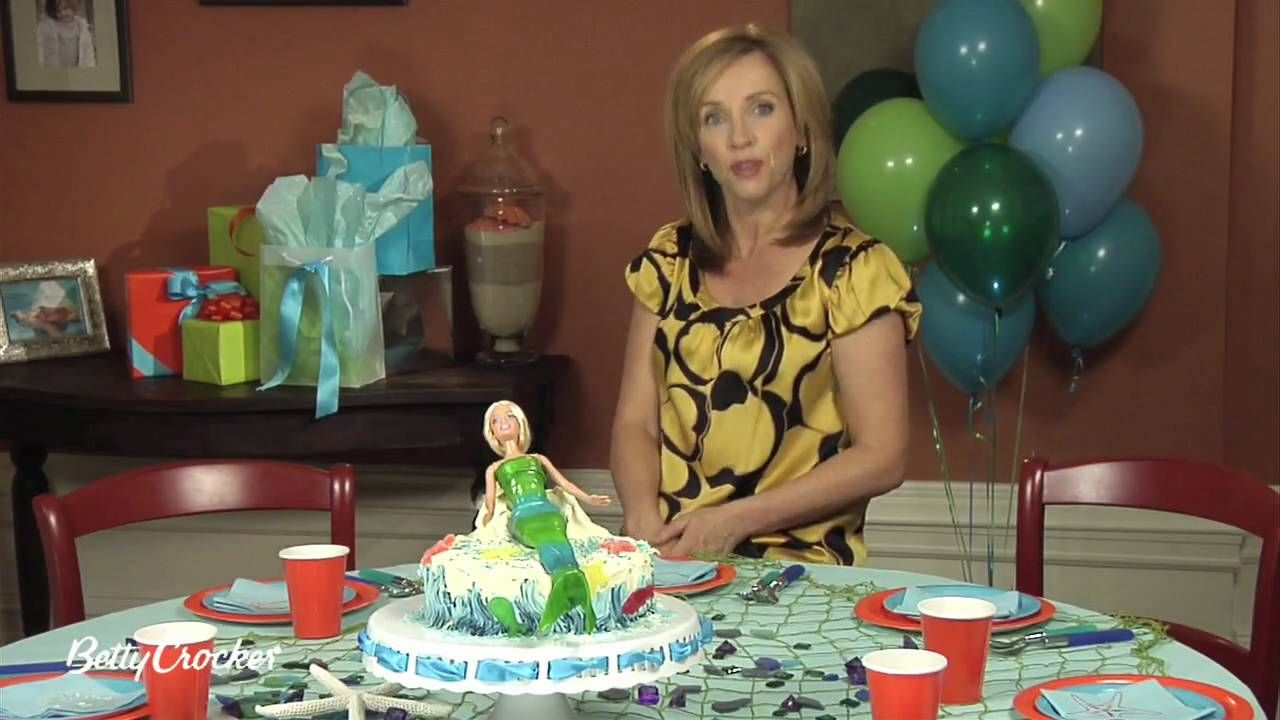 Mermaid Birthday Cake Decorating Ideas With Betty Crocker With