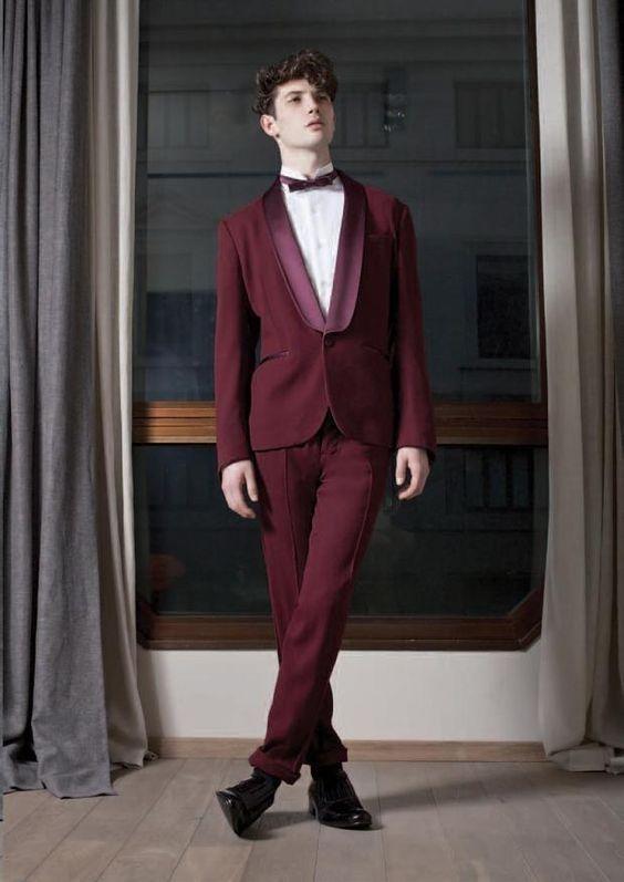 2017 Latest Coat Pant Designs Burgundy Jacket Men Suit Prom Tuxedo ...