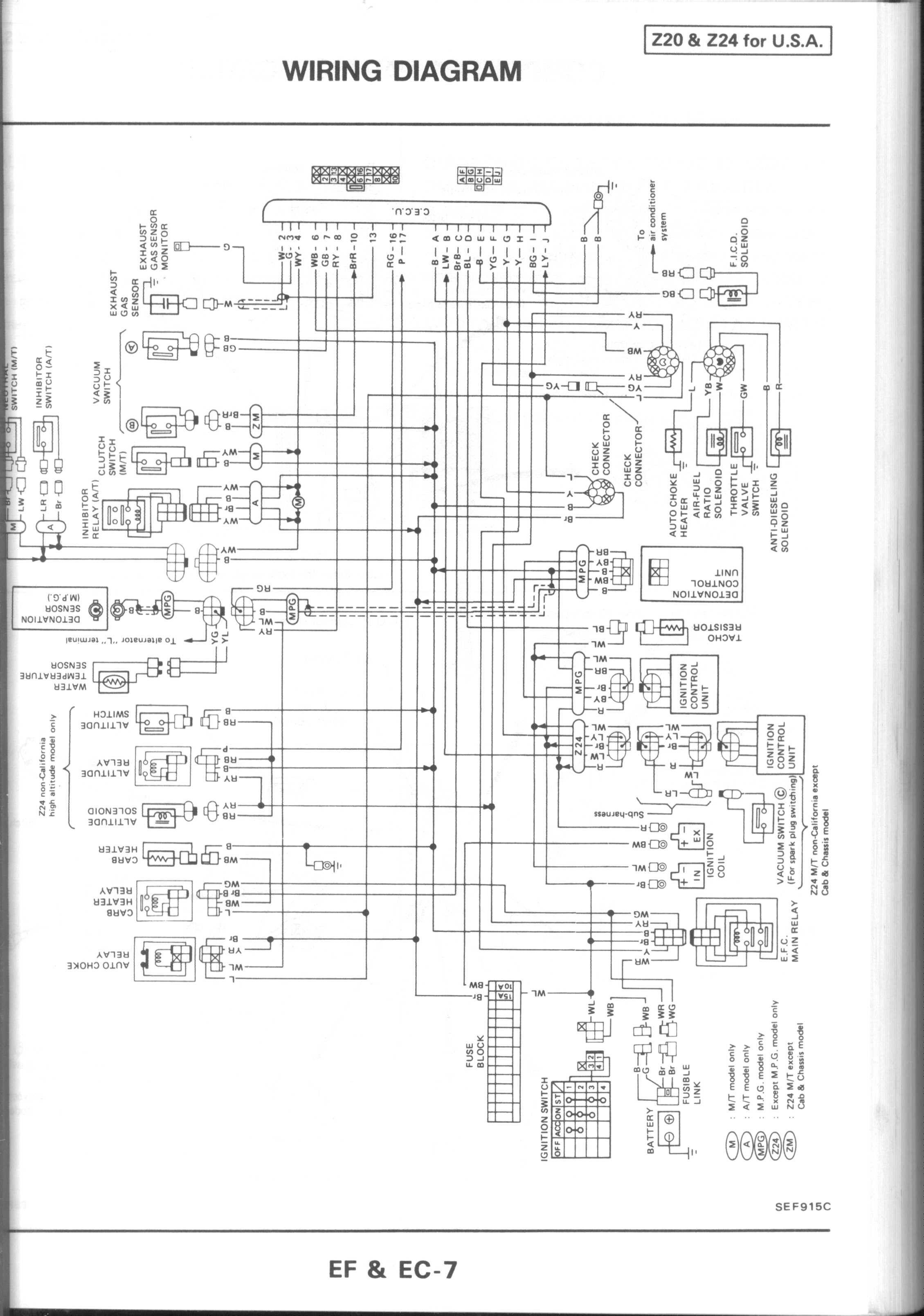 1994 Nissan Sentra Engine Diagram