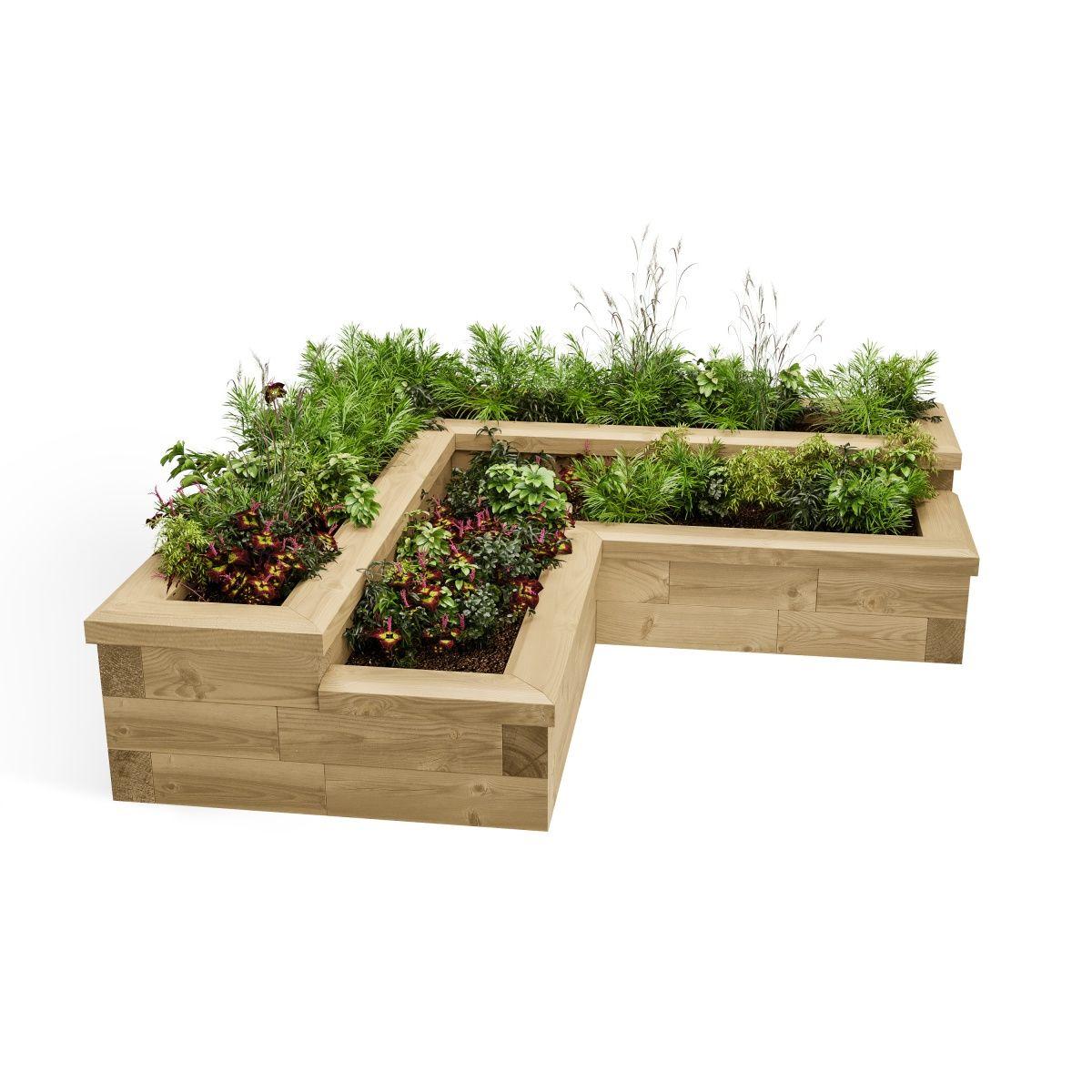 Corner Herb Garden 1 5 X 0 75 X 0 35m Erhohte Gartenbeete Erhohte Beete Gartenliege