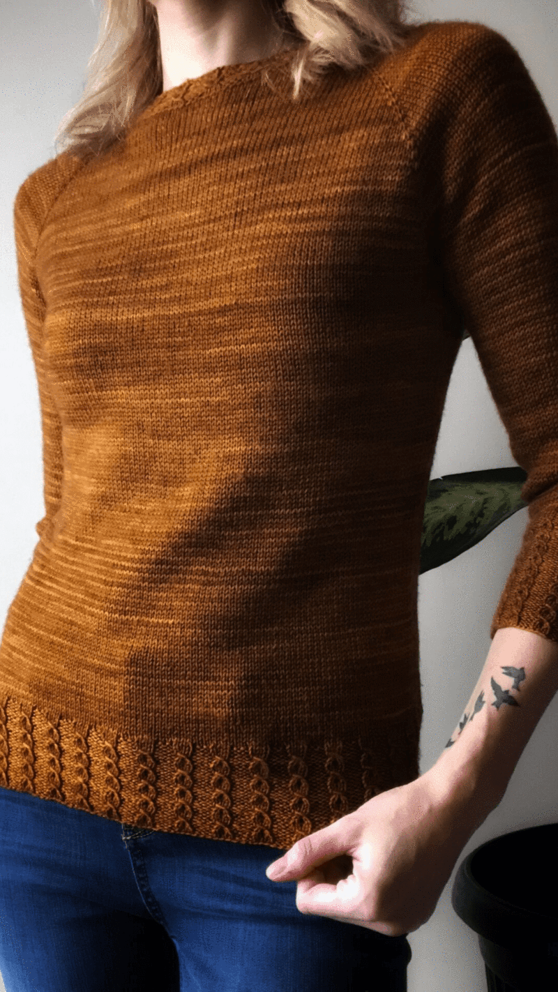 Photo of Little Cables Raglan | Free Pullover Pattern